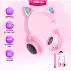 """Беспроводные Bluetooth наушники HOCO """"W27 Cat"""", розовые"""