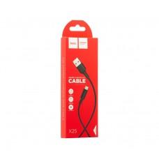 Кабель HOCO X25 Micro USB 1m для зарядки черный