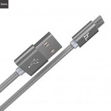 Кабель HOCO X2 microUSB для зарядки и синхронизации ,серый