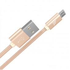 Кабель HOCO X2 microUSB для зарядки и синхронизации ,золото