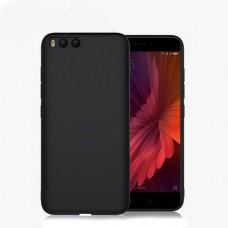 Силиконовый чехол матовый для Xiaomi Mi6, черный