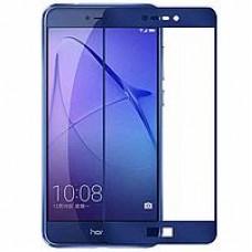 Защитное стекло 3D на весь экран для Huawei P8 Lite 2017 / Honor 8 Lite, синее
