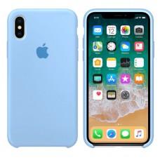 Чехол бампер Silicone Case для iPhone XR (Sky blue)
