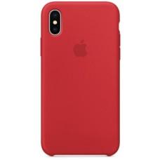 Бампер Silicone Case для iPhone X, красный