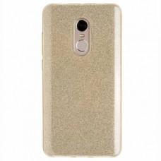 """Силиконовый чехол EXPERTS """"DIAMOND TPU CASE"""" для Xiaomi Redmi Note 4X ,золото"""