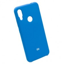 Чехол бампер Silicone Case для Xiaomi Redmi Note 7 синий