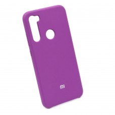 Чехол бампер Silicone Case для Xiaomi Redmi Note 8 (фиолетовый)