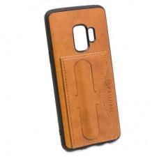 Чехол бампер KANJIAN для Samsung Galaxy S9 (коричневый)