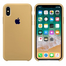 Чехол бампер Silicone Case для iPhone XR (Mustard Bage)