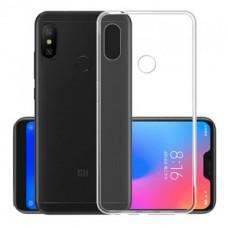 Силиконовый чехол Ultra Thin TPU для Xiaomi Mi A2 lite / Redmi 6 Pro,  прозрачный