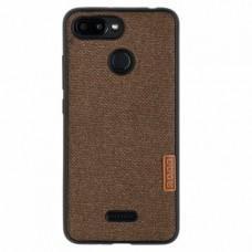 Задняя накладка CASE Muxma для Xiaomi Redmi 6, коричневый