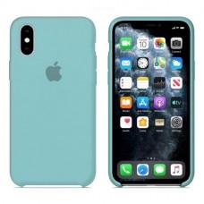 Чехол бампер Silicone Case для iPhone XR (Sea blue)