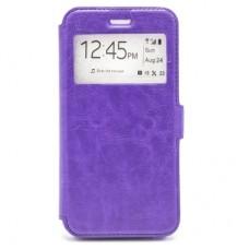 Чехол-книга Experts BOOK Slim case для Huawei Y6 Prime (2018) / Honor 7A Pro / Honor 7C, фиолетовый