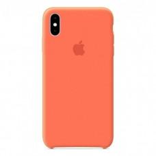 Чехол бампер Silicone Case для iPhone XR (Orange)