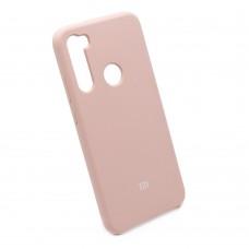 Чехол бампер Silicone Case для Xiaomi Redmi Note 8 (пудра)