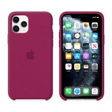Чехол Silicone Case для iPhone 11 (Rose red)