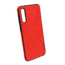 Чехол бампер Textile Experts для Samsung Galaxy A50 красный