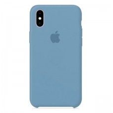 Чехол бампер Silicone Case для iPhone XR (Blue shaded)