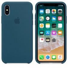 Чехол бампер Silicone Case для iPhone XR (Cosmos blue)