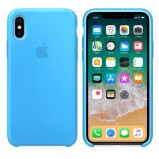 Чехол бампер Silicone Case для iPhone XR (Blue)