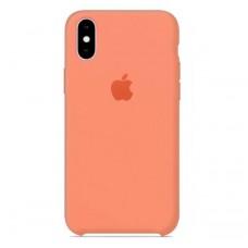 Чехол бампер Silicone Case для iPhone XR (Peach)