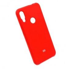 Чехол бампер Silicone Case для Xiaomi Redmi Note 7 красный