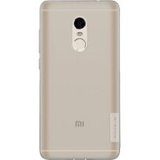 Чехол Nillkin Nature TPU для Xiaomi Redmi Note 4 (серый)