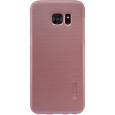 Чехол Nillkin Super Frosted Shield для Samsung Galaxy S7 Edge (розовый)