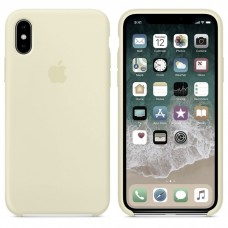 Чехол бампер Silicone Case для iPhone XR (Antique white)