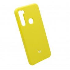 Чехол бампер Silicone Case для Xiaomi Redmi Note 8 (желтый)
