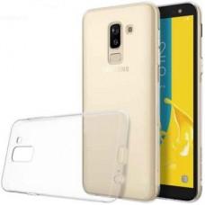 Чехол для Samsung Galaxy J8 (2018) бампер TPU прозрачный