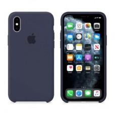 Чехол бампер Silicone Case для iPhone XR (Midnight blue)