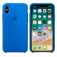 Чехол бампер Silicone Case для iPhone XR (Royal blue)