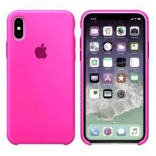Чехол бампер Silicone Case для iPhone XR (Barby Pink)