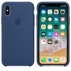 Чехол бампер Silicone Case для iPhone XR (Cobalt Blue)