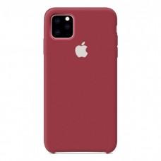 Чехол Silicone Case для iPhone 11 (Dark Red)