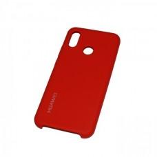 Soft-touch бампер Silicone Cover для Huawei P20 Lite красный