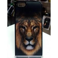 """Чехол накладка с 3D изображением """"Лев"""" для телефона iPhone 5/5S"""