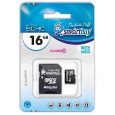 Карта памяти Smartbuy 16GB micro SDXC Class 10