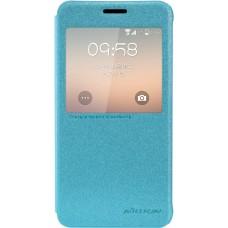 Чехол Nillkin Sparkle для Samsung Galaxy Alpha (голубой)