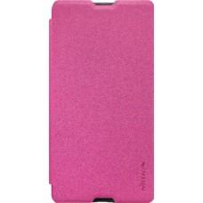 Чехол Nillkin Sparkle для Sony Xperia M5 розовый