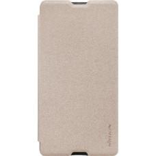 Чехол Nillkin Sparkle для Sony Xperia M5 золотистый