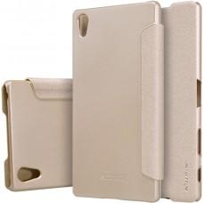 Чехол Nillkin Sparkle для Sony Xperia Z5 Premium золотистый