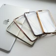 Силиконовый чехол с цветным ободком на iPhone 6/6S