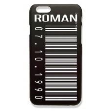 Чехол именной для телефона с фамилией именем Шрифт-ROMAN