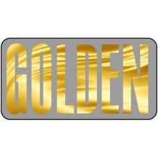 Шаблон № 1012 Надпись на золотом фоне (шрифт Fusion