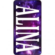 Шаблон № 1027 ALINA Шрифт Cambria на Звездном небе