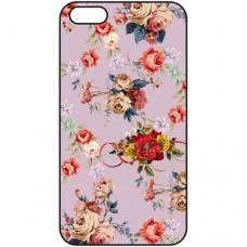 Шаблон №2017 Букеты роз на бледно-фиолетовом фоне