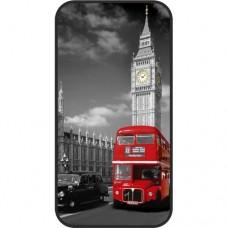 Шаблон №2075 Лондон красно-черно-белый стиль