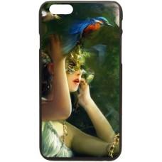 Шаблон №2099 девушка в маске и птицы